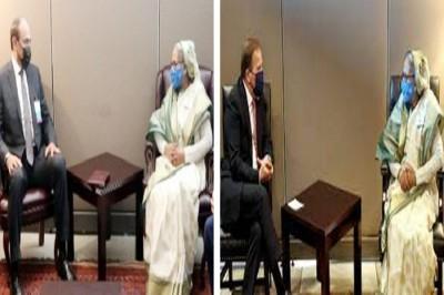 কুয়েত ও সুইডেনের প্রধানমন্ত্রীর সঙ্গে শেখ হাসিনার বৈঠক